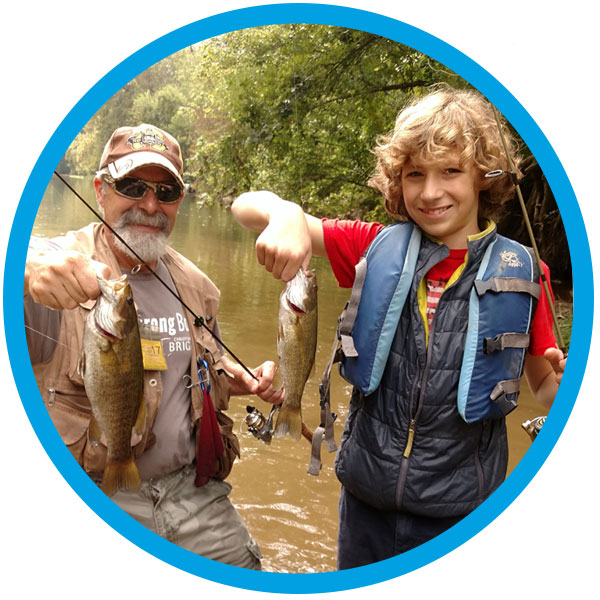 Mentoring Out of the Box Fishing is for dads and sons, too!